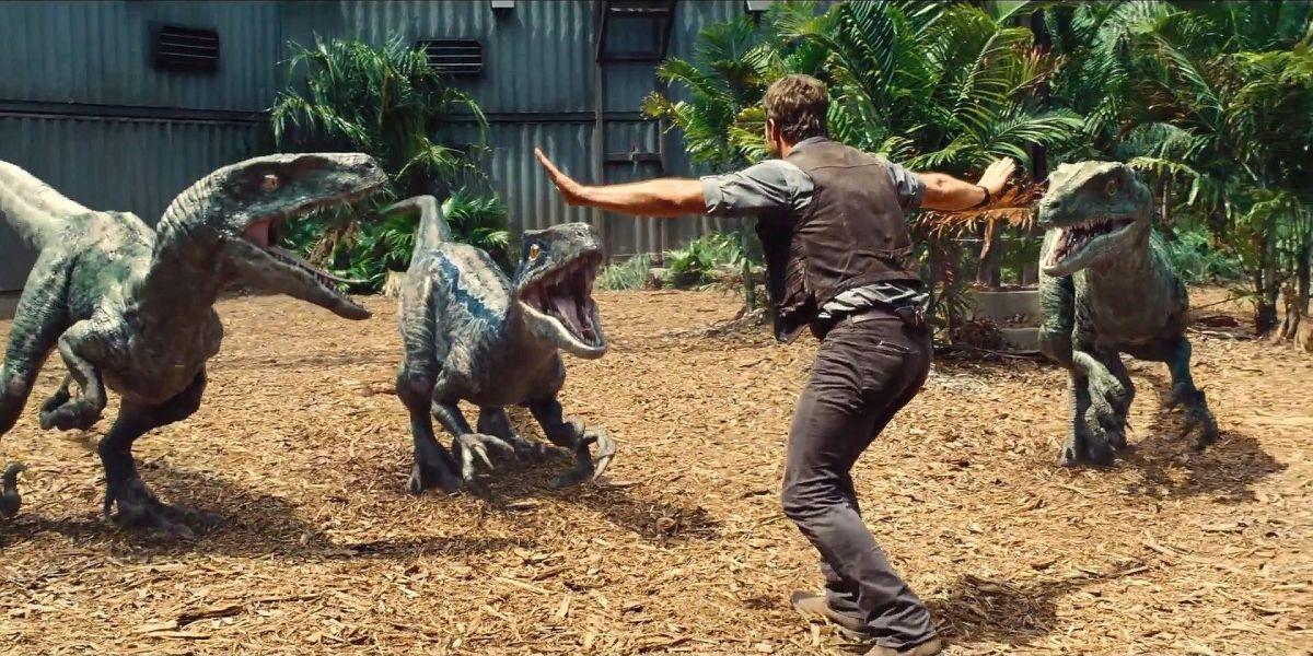 Velociraptor in un immagine del fil Jurassic World