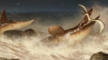 Mosasauro in azione