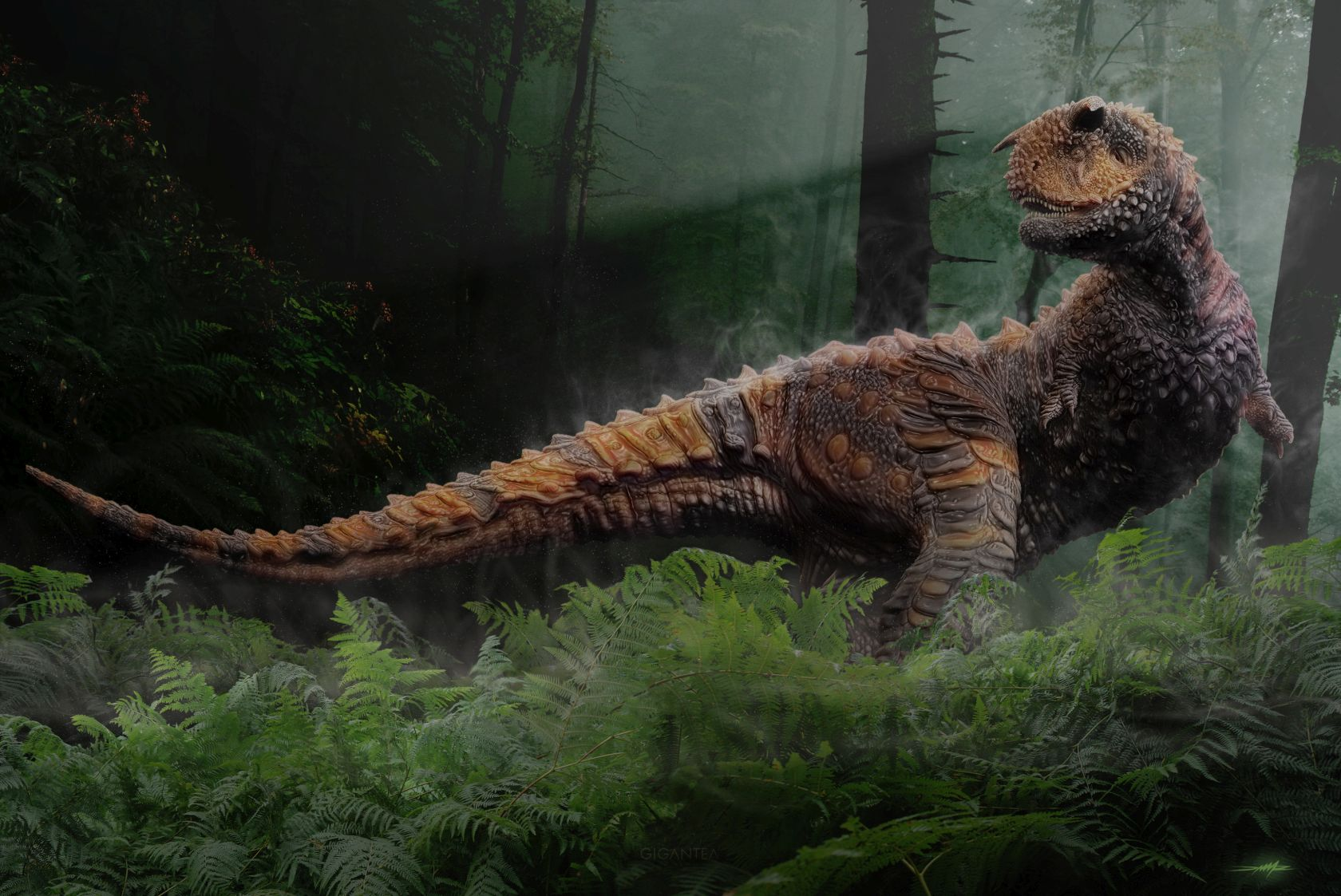 carnotaurus sastre nel suo abitat
